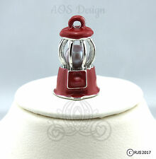 Pick A Pearl Cage Silver Plated Gumball Machine Red Enamel Locket CHARM ONLY