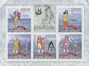 GUINEA BISSAU 2009 PIRATES 5 SUBJECT SOUVENIR SHEET #42