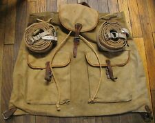 WWII GERMAN NAZI BACKPACK & FUR SKI CLIMBING SKINS