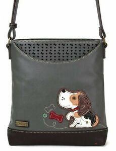 Chala Puppy Dog Crossbody Sweet Messenger Bag  Mid-Size Vegan Leather Shoulder