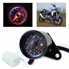 Motorrad Mini LED Tachometer Speedometer Anzeiger für Harley Honda Suzuki km/h