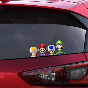 Mario Gang Full Colour Vinyl Decal Window Sticker Car Bumper Gift Present New