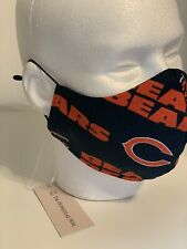 Chicago Bears NFL 100% Cotton Face mask Washable Reusable With Ear Adjusters USA