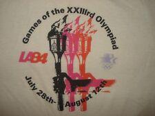 Vintage 1984 OLYMPICS T SHIRT Los Angeles LA84 Torch Soft 1980s USA Levis M/L