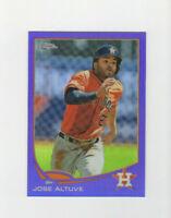 2013 Topps Chrome Purple Refractor Jose Altuve Parallel Card Astros star 2b!!