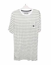 NEW! AUTHENTIC ZOO YORK MEN'S STRIPES T SHIRT TOP (GRAY, SIZE MEDIUM)