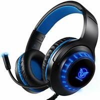 Pro Stereo Gaming Headset for PS4 PC Xbox One S X Nintendo Switch Controller &
