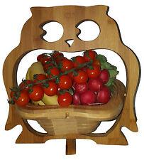 Hibou UHU BOL PANIER PLIANT 30x30cm CORBEILLE de fruits bois dessous plats