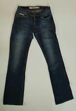 Ben Sherman Jeans Women's 25/34 Bootcut Medium Stonewashed Distressed DG115KX