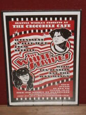 Pole flyer/concert poster The White Stripes Seattle 2001 artist signed