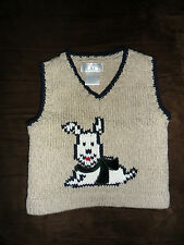 The Children's Place Tan Puppy Sweater Vest Boys Size: 6-9 months Excellent Used