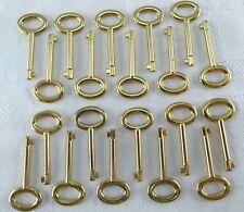 Old Vintage Antique Style Keys Skeleton Keys ( Gold Color) Lot of 20 - New