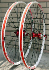 ALEX DP20 Novatec HUB Disc wheelset WHEEL SET RED WHITE MTB 26 INCH FOR MTB