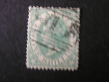 NATAL, SCOTT # 17, 1/- VALUE GREEN 1867 QV ISSUE USED