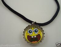 Spongebob squarepants bottle cap necklace sponge bob