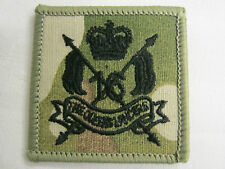 16TH QUEENS ROYAL LANCERS TRF - MULTICAM - BLACK EMBROIDERY MILITARY  PATCH