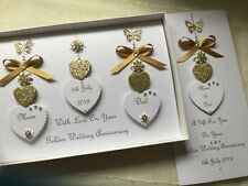 Personalised Boxed Wedding Card and Gift Voucher Wallet Golden Anniversary 50th