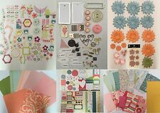 Huge Lot Cosmo Cricket Pixie Licious Scrapbook Papers Flowers Ribbons Accents
