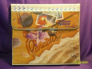 Vintage 80s MEAD TRAPPER KEEPER BEACH PARADISE NOTEBOOK 3-RING BINDER