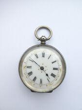Antique 1880c Cuivre Swiss 800 Silver Ladies Pocket Watch