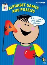 Alphabet Games and Puzzles Stick Kids Workbook, Gr