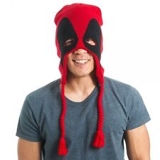 BIOWORLD MARVEL DEADPOOL LAPLANDER BEANIE WITH EAR MUFFS - HATS SURF SKATE SNOW