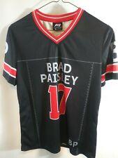 Brad Paisley Jersey Women's 17 Country Music Red Black Concert Shirt M