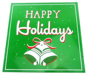"Happy Holidays Christmas Sign Steel Green 12""X12"" Heavy Duty Free Shipping"