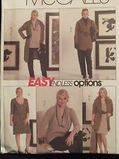Lovely OOP McCALLS 5485 Jackets Tunic Dress Pants & Cowl PATTERN 10-12-14-16-18