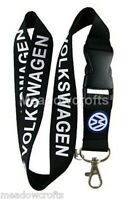 Black VW Lanyard NEW - UK Seller - Volkswagen