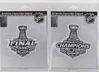 TWO 100% AUTHENTIC OFFICIAL 2014 STANLEY CUP & CHAMPIONS LA KINGS JERSEY PATCH