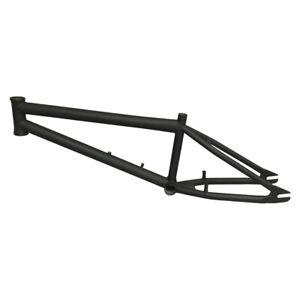 "Pskyopath CroMoly XL BMX-Freestyle Frame 20.5"" Top Tube Flat Black New Old Stock"