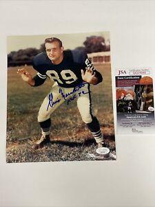 Gino Marchetti (Deceased) Signed 8 x 10 Photo JSA COA Baltimore Colts