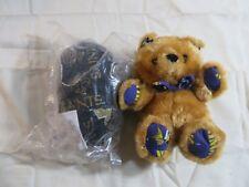 Vtg NFL Plush Pillow Pals New Orleans Saints Teddy Bear Football Reversible CUTE