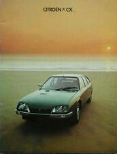 Citroen CX Sales Brochure - September 1977