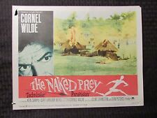 1965 THE NAKED PREY Original 14x11 Lobby Card #5 8 GD+ 2.5 LOT of 2