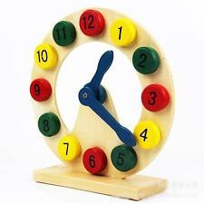 Mode Kinder Uhr Lernspiele Mädchen Holz Uhr Lernspielzeug  Uhr Lernen Spielzeug