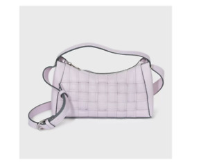 Zip Closure Woven Pattern Crossbody Bag - A New Day  Lilac Lavender, NWT