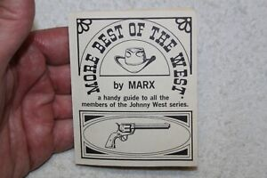Vintage Marx Johnny West - Best Of The West - Handy Guide (1960's)