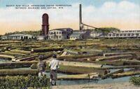 Postcard Neopit Saw Mills Menominee Indian Reservation Shawano + Antigo WI