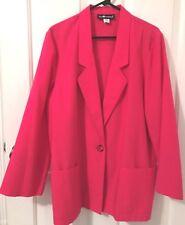 SAG HARBOR Womens 1 Button Pink Dress Jacket-Unlined-Size 14-EUC