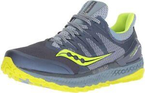 Saucony Women's Xodus ISO 3 Sneaker, Grey/Citron, 11.5 B(M) US