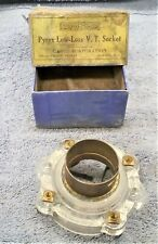 1 NOS GAROD  PYREX GLASS LOW-LOSS  V.T. SOCKET  Great for Use or Display + BOX
