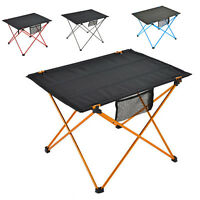 New Portable Folding Aluminum Camping Picnic Table BBQ Dining Outdoor Equipment