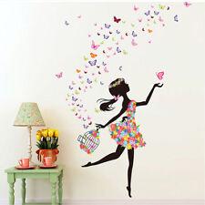 Vinilo infantil hada bailando con mariposas .Vinilos infantiles baratos.DOCLIICK