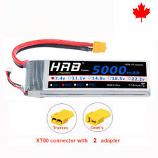 HRB 2S 5000mAh 7.4V Lipo battery 50C XT60 with Traxxas Deans For Traxxas Car CA