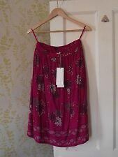 *BNWT* PER UNA at M&S fuchsia pink floral print crinkle skirt, UK 10, £39.50