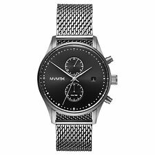MVMT Watches VOYAGER SERIES SILVER STAINLESS STEEL MESH Men's Watch ORIGINAL