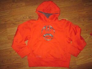 Boys NIKE THERMA FIT athletic hooded hoodie sweatshirt sz S SM