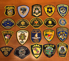 Set Of 20x Police Patch Trader Lot - All Patches Are New And Unused